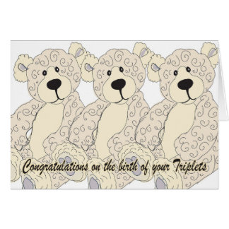 Cartão O urso de ursinho dos parabéns das objectivas