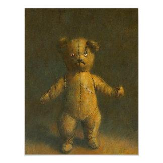 Cartão O urso de ursinho o Dia das Bruxas do zombi