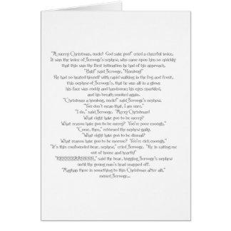 Cartão O urso do Natal por Charles Dickens