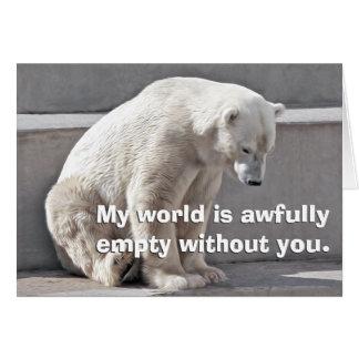 Cartão O urso polar falta você
