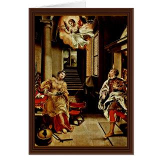 Cartão O Valerian de St Cecilia e de St. por Orsi Lelio