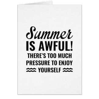 Cartão O verão é terrível