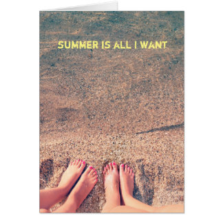 Cartão O verão é tudo que eu quero