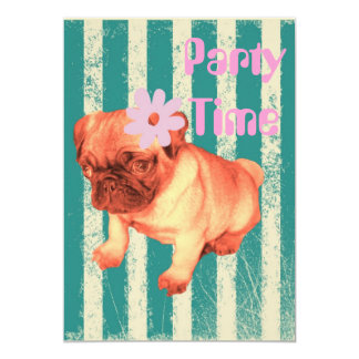 Cartão o verde bonito da margarida do filhote de cachorro