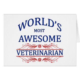 Cartão O veterinário o mais impressionante do mundo