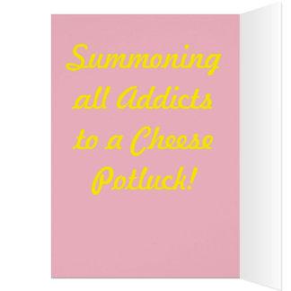 Cartão O viciado do queijo convida