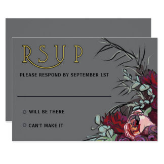 Cartão O Victorian floresce cinzas de RSVP