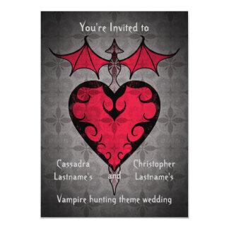 Cartão O victorian gótico estacou o coração do vampiro no