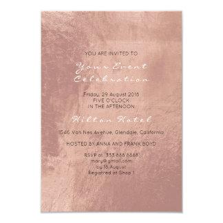 Cartão O vidro cor-de-rosa do ouro do cobre metálico