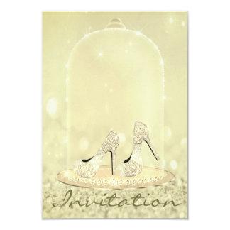 Cartão O vidro do diamante do brilho calça o canário do