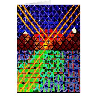 Cartão O vidro escuro
