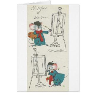 """Cartão O vintage do """"artista rato"""" obtem bem"""