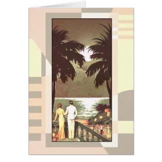 Cartão O vintage Miami Beach | do art deco cora