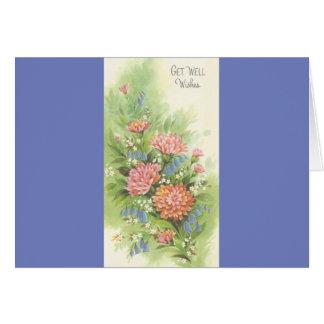Cartão O vintage obtem bem com flores