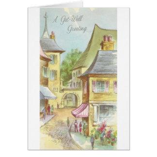 Cartão O vintage obtem bem com vila