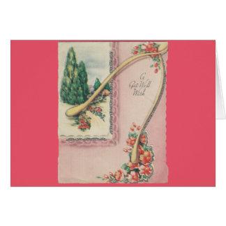 Cartão O vintage obtem bem com Wishbone