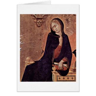 Cartão O Virgin do aviso por Simone Martini