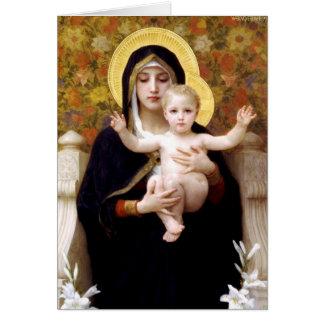 Cartão O Virgin do Lillies