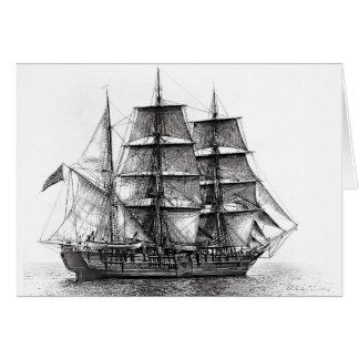 Cartão O Whaler Charles W. Morgan