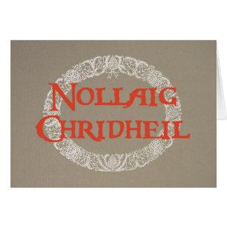 Cartão O White Christmas do gaélico escocês envolve o