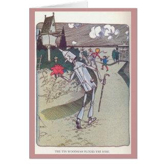 Cartão O Woodman da lata arranca o rosa