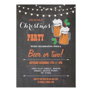 Cartão O Xmas do visco das cervejas do partido do Feliz