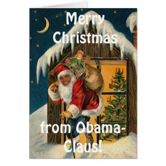Cartão Obama Claus, Barack Obama engraçado Papai Noel