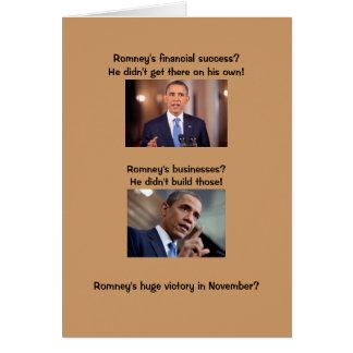 Cartão Obama no sucesso