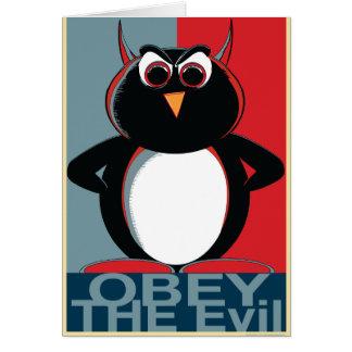 Cartão OBEDEÇA o Penguin™ mau