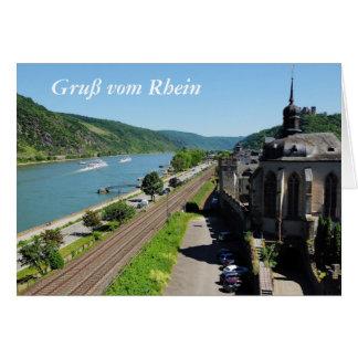 Cartão Oberwesel à reno