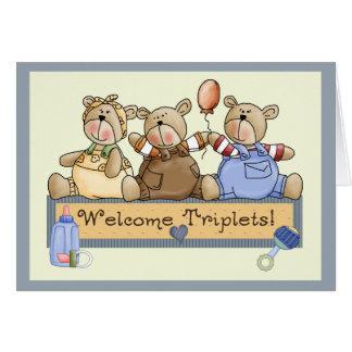Cartão Objectivas triplas bem-vindas