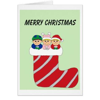 Cartão objectivas triplas na meia colorida