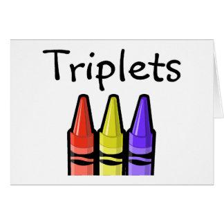 Cartão Objectivas triplas (pastéis)