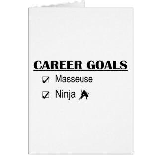 Cartão Objetivos da carreira de Ninja - Masseuse