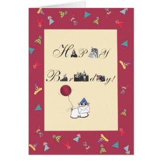 """Cartão """"Obra-prima"""" de um aniversário individual"""