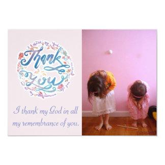 Cartão Obrigado 1:3 (customizável) dos Philippians do