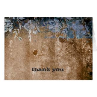 Cartão obrigado 311-Lusciously rústico você