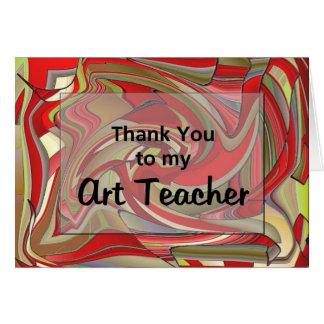 Cartão Obrigado a meu professor de arte