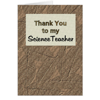 Cartão Obrigado a meu professor de ciências