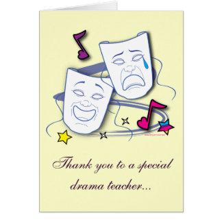 Cartão Obrigado a meu professor do drama: Jogo