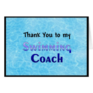 Cartão Obrigado a meu treinador da natação