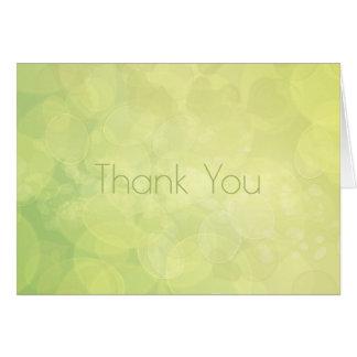 Cartão Obrigado. Abstraia a textura do limão do verde do