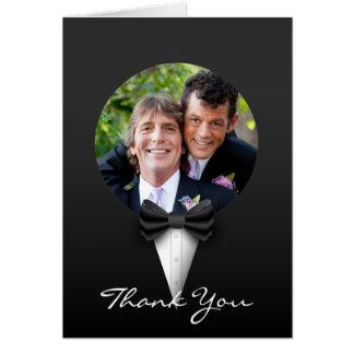 Cartão Obrigado alegre elegante moderno chique da foto do