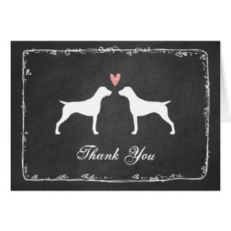Cartão Obrigado alemão do casamento do ponteiro de