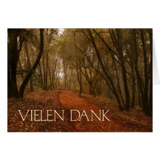 Cartão Obrigado alemão húmido de Vielen você trajeto nas