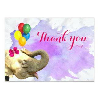 Cartão Obrigado animal do bebê da selva bonito do