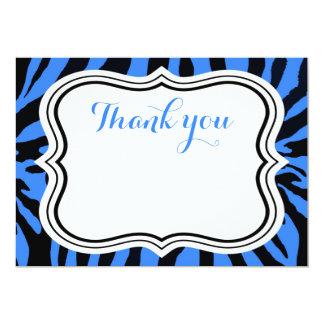 Cartão Obrigado animal do menino da forma preta e azul da