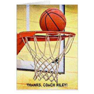 Cartão Obrigado ao treinador de beisebol