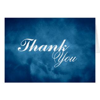 Cartão Obrigado azul profundo você