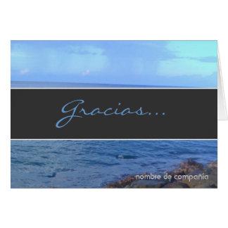 Cartão Obrigado azul você Notecard